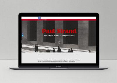 Branded Content exposición Paul Strand Barcelona